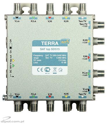 Amplifier for 5-input multiswitches: Terra SA-511 (class A)