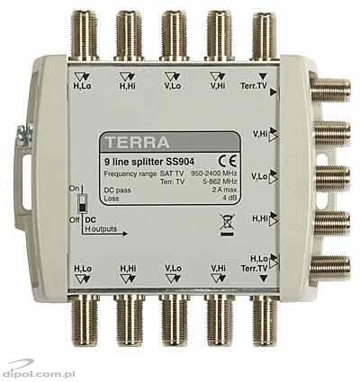 Rozgałęźnik TV/SAT SDQ-508 5-we, 20-wy Terra