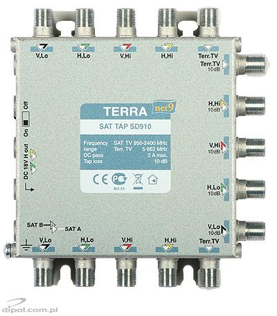 TV/SAT Splitter: Terra SDQ-508 (5-in, 20-out, class A)