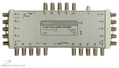 TV/SAT Splitter: Terra SSQ-908 (9-in, 36-out)
