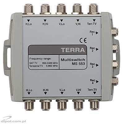 Multiswitch cascadabil: Terra MS-553 (5-intrari, 4-iesiri)