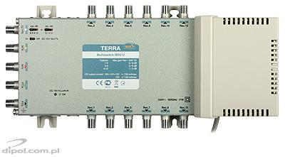 Multiswitch: Terra MSR-512 (5-in, 12-out; amplificador de TV terrestre)