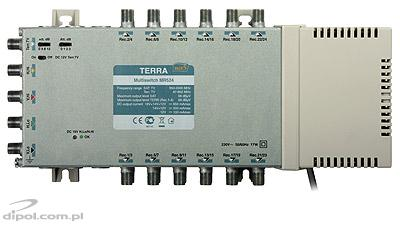 Multiswitch Terra MR-524 (1xSAT+CATV, 24 ieşiri, amplificat, CLASS A)