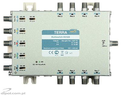 Multiswitch Terra MSV-504 (5-in, 4-out) - cu reglaj IF