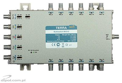 Multiswitch Terra MSV-512 (5-in, 12-out) - with IF gain adjustment