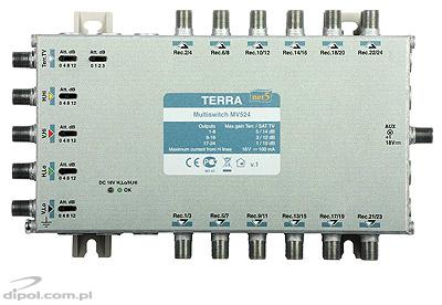 5/24 Multiswitch: Terra MV-524 (IF gain adjustment, class A)