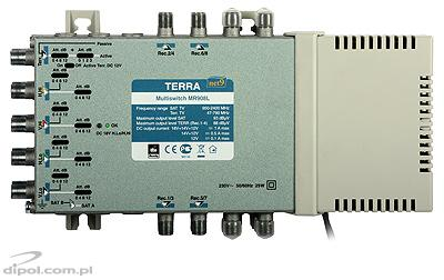 Multiswitch Terra MR-908L (2 sateliţi, 8 ieşiri, amplificare, class A)
