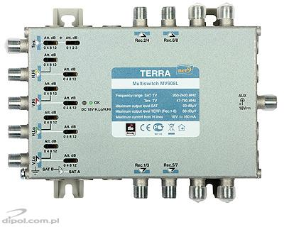 Terra MV-908L - Multiswitch 9/8 bez zdroje