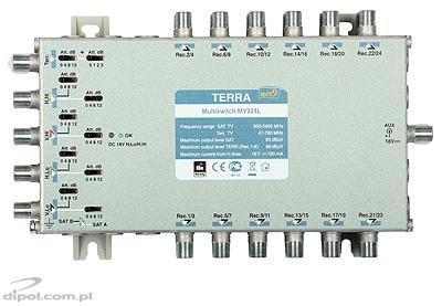 9/24 Multiswitch: TERRA MV-924L (active terr. path, class A, w/o PSU)
