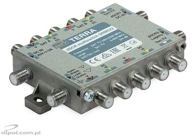 Single-cable dSCR Multiswitch: Terra SRM-521 (class A, passive Terr. TV path)