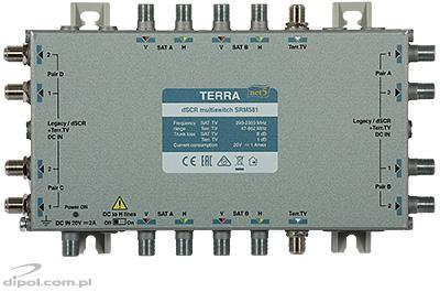 Single-cable Cascadable dSCR Multiswitch: Terra SRM-580 (class A, active Terr.TV path)