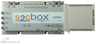Kompakt fejállomás DVB-S/S2 - DVB-C: Terra S2C16