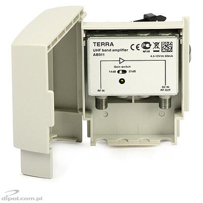 Outdoor DVB-T Antenna Amplifier: Terra AB011 (27dB 5/12V)