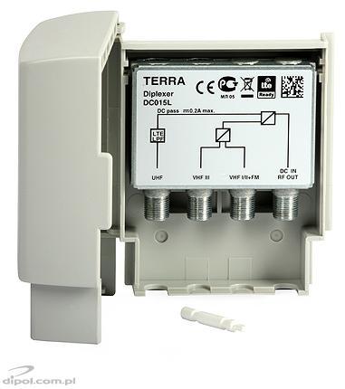 Antennaerősítő HS-013 (12V)Terra VHF/UHF 1be/2ki