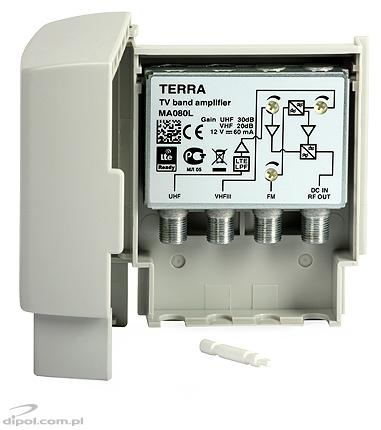 Outdoor Antenna Amplifier TERRA MA080L (FM-VHFIII-UHF)