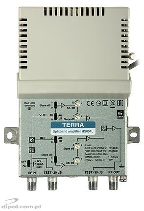 VHF/UHF Amplifier: Terra HS-016 (Cabrio, 1-in/2-out)