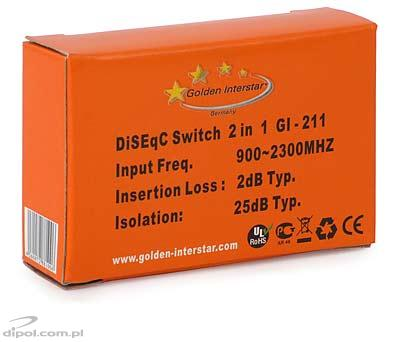 DiSEqC 2.0 / Tone Burst Switch: Golden Interstar GI 211 (2/1)