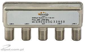 DiSEqC 2.0 / Tone Burst Switch: Golden Interstar GI 411 (4/1)