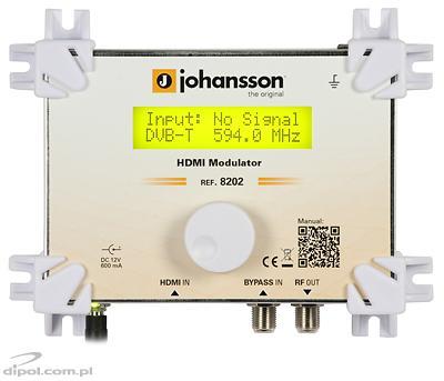 Modulátor 8202 HDMI-DVB-C (QAM)/DVB-T (COFDM)/DMB-T/ATSC JOHANSSON