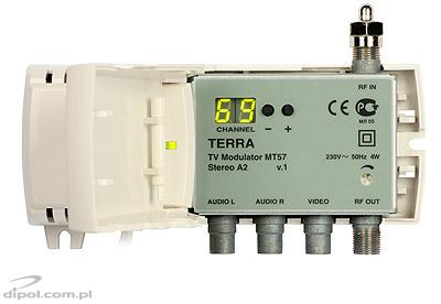 TV Modulator: Terra MT-10P (B, D, ch.6-12 & S9-S16, with power supply)