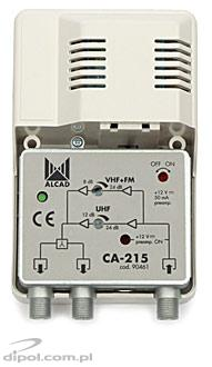 Broadband Antenna Amplifier: Alcad CA-210 (24 VDC for preamp.)