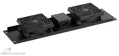 RACK Fan Panel (2 fans, front-mount)