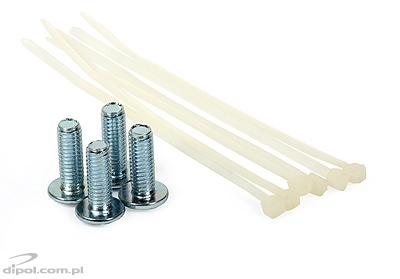 Set montaj RACK kit (4x şurubur+garnitură+piuliţă)