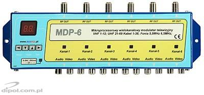 6-channel TV modulator: Mixpol MDP-6 (ch. 1-69)