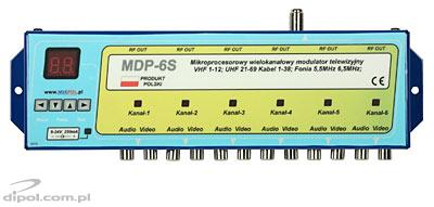 6-channel TV modulator: Mixpol MDP-6S (ch. 1-69)
