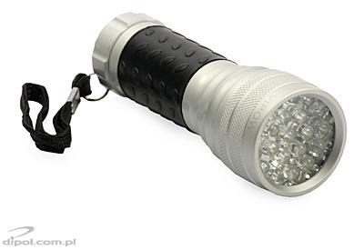 Professional Flashlight: ROB-21 (21 LEDs, aluminum housing with rubber grip)