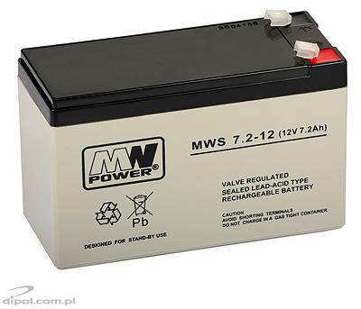 Rechargeable Battery MW 7.2-12S (12V, 7.2Ah)